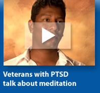 Veterans with PTSD talk about meditation