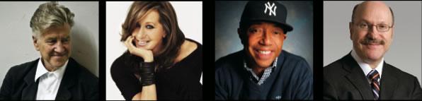 Donna Karan, David Lynch, Russell Simmons, Norman Rosenthal, M.D.