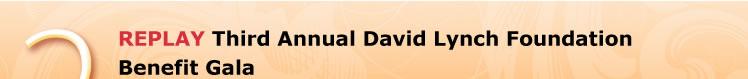 REPLAY Third Annual David Lynch Foundation Benefit Gala