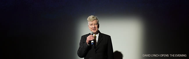 David Lynch opens the evening