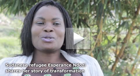 Sudanese refugee Esperance Ndozishares her story of transformation